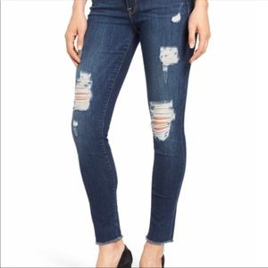 Good American GoodLegs High Rise Ripped Jeans